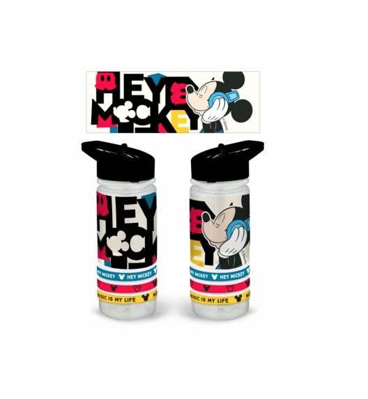 DISNEY Bidon Mickey Music z opaskami / 470 ml / tworzywo sztuczne