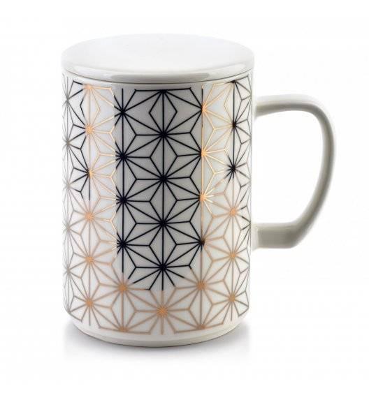 AFFEKDESIGN CHIC GEO Kubek z pokrywką 460ml / porcelana