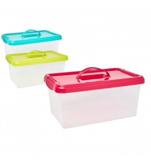 PLASTIC FORTE Pojemnik do przechowywania z uchwytem 10 L / mix kolorów / tworzywo sztuczne