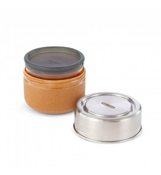 BLACK+BLUM Lunch bowl / pojemnik na lunch / 0,6L / srebrny, migdałowy / tworzywo sztuczne, stal nierdzewna, szkło