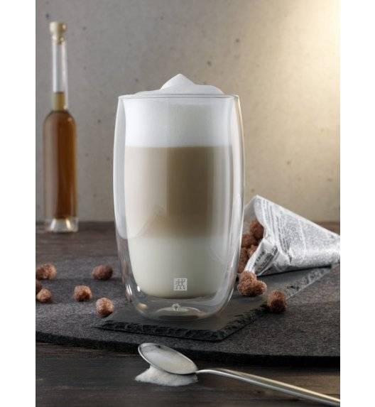 ZWILLING SORRENTO Zestaw dwóch szklanek do latte macchiato / 350 ml / szkło