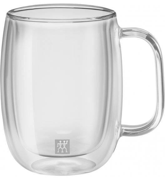 ZWILLING SORRENTO Zestaw dwóch szklanek do kawy / 355 ml / szkło