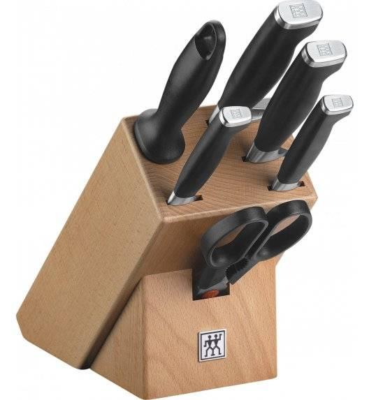 ZWILLING TWIN FOUR STAR II Zestaw 4 noży w bloku / stal nierdzewna, tworzywo sztuczne