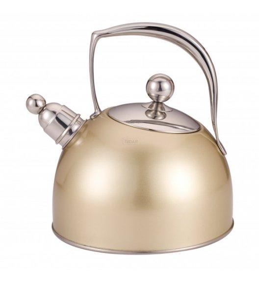STARKE TALITA GOLD Czajnik 2,5 l z gwizdkiem / stal nierdzewna / indukcja