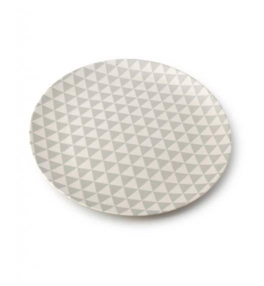 MONDEX BAMBOO Talerz Ø 20 cm / biało - szary / bambusowy