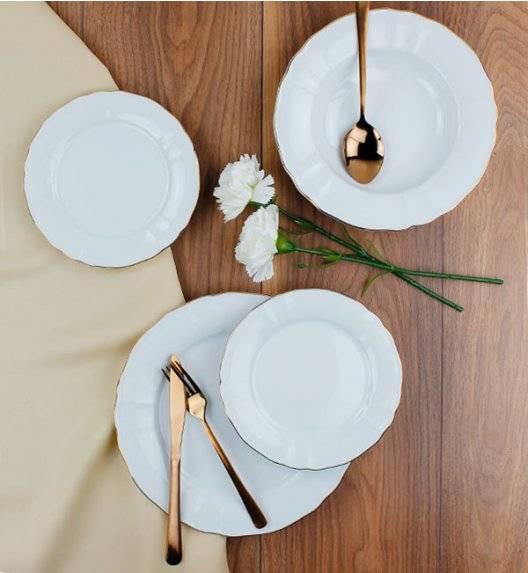 LUBIANA MARIA ZŁOTY PASEK 6026A Serwis obiadowy 36 el / 12 osób / porcelana