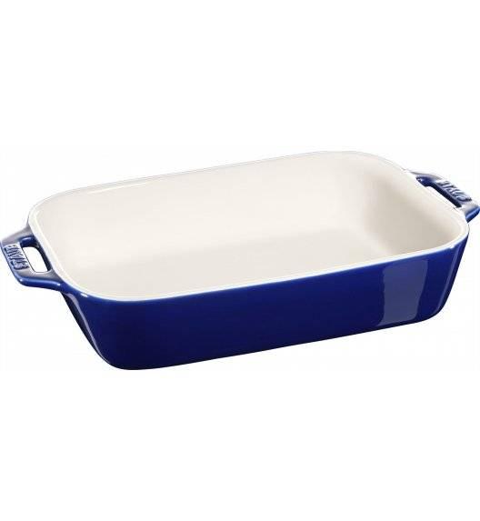 STAUB COOKING Prostokątny półmisek ceramiczny / 2,4 l / 27 x 20 cm / niebieski / ceramika