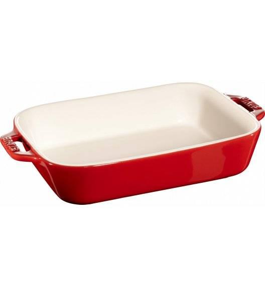 STAUB COOKING Prostokątny półmisek ceramiczny / 1,1 l / 20 x 16 cm / czerwony / ceramika