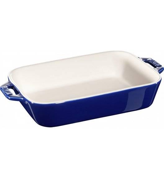 STAUB COOKING Prostokątny półmisek ceramiczny / 1,1 l / 20 x 16 cm / niebieski / ceramika