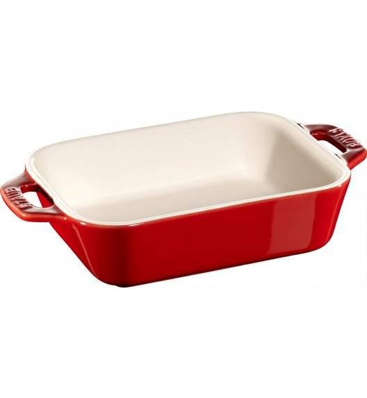 STAUB COOKING Prostokątny półmisek ceramiczny / 400 ml / 14 x 11 cm / czerwony / ceramika