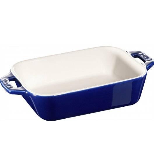 STAUB COOKING Prostokątny półmisek ceramiczny / 400 ml / 14 x 11 cm / niebieski / ceramika