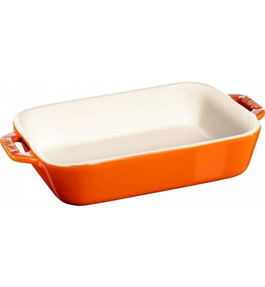 STAUB COOKING Prostokątny półmisek ceramiczny / 1,1 l / 20 x 16 cm / pomarańczowy / ceramika