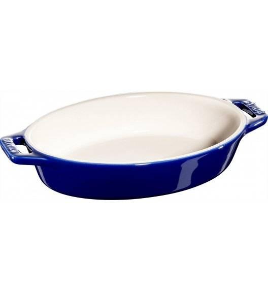 STAUB COOKING Owalny półmisek ceramiczny / 400 ml / Ø 17 cm / niebieski / ceramika
