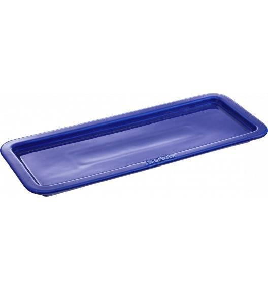 STAUB SERVING Taca do serwowania / 37 x 14,5 cm / niebieski / ceramika