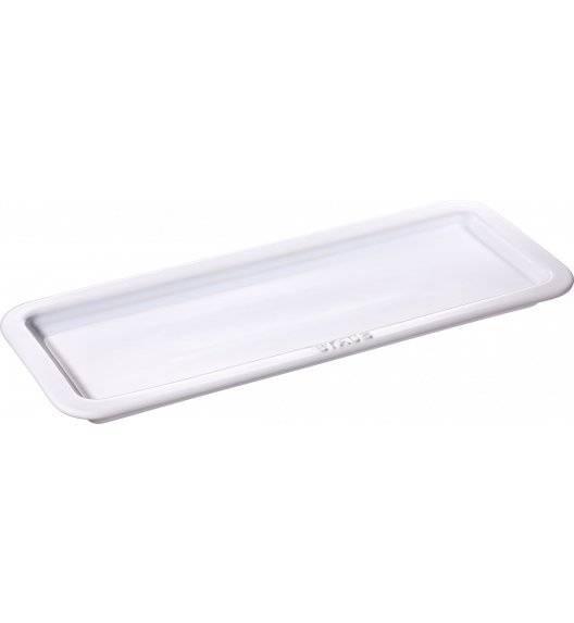 STAUB SERVING Taca do serwowania / 37 x 14,5 cm / biały / ceramika