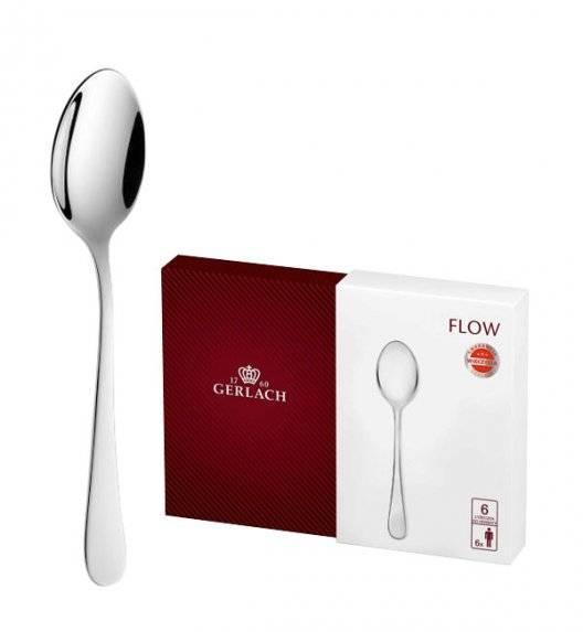 GERLACH FLOW Sztućce Łyżeczki do herbaty 6 el pudełko / 6 osób / połysk