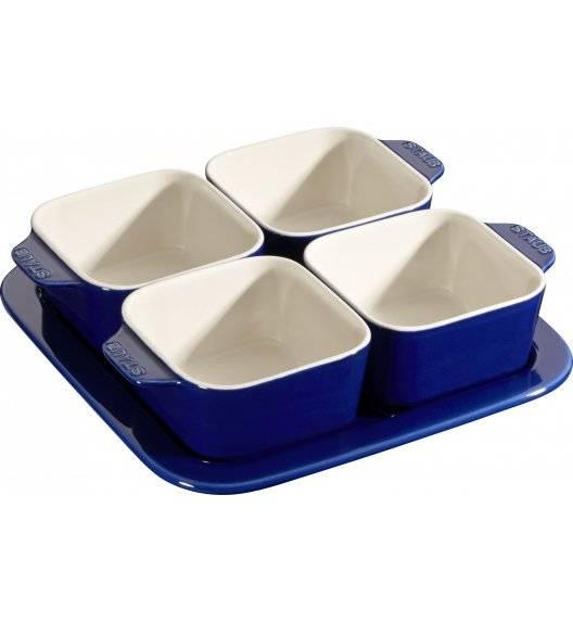 STAUB SERVING Zestaw do przystawek / 5 elementów / 500 ml / niebieski / ceramika
