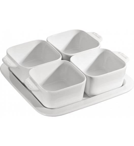 STAUB SERVING Zestaw do przystawek / 5 elementów / 500 ml / biały / ceramika