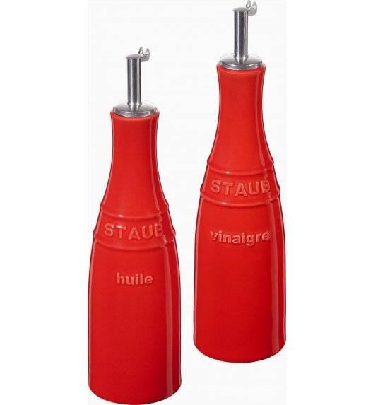 STAUB SERVING Zestaw do oliwy i octu / 2 elementy / 250 ml / czerwony / ceramika