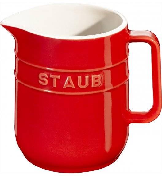 STAUB SERVING Dzbanuszek do mleka / 250 ml / czerwony / ceramika
