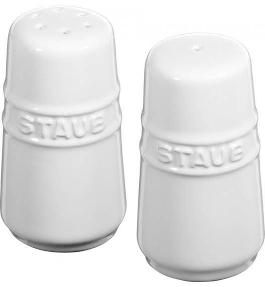 STAUB SERVING Zestaw do soli i pieprzu / biały / ceramika