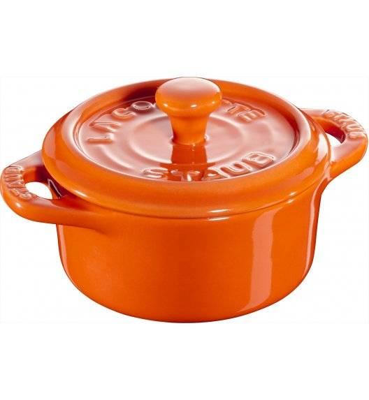 STAUB GIFT GIVING Garnek okrągły do serwowania / 200 ml / pomarańczowy / ceramika