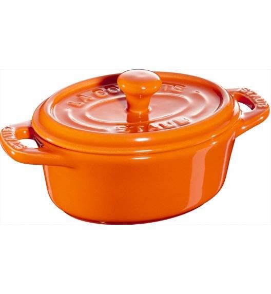 STAUB GIFT GIVING Garnek owalny do serwowania / 200 ml / pomarańczowy / ceramika