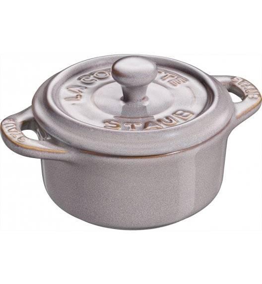 STAUB GIFT GIVING Garnek okrągły do serwowania / 200 ml / antyczny szary / ceramika
