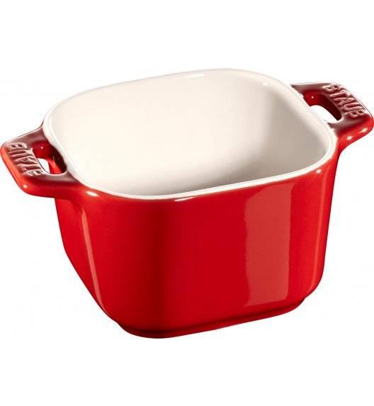 STAUB XS-MINIS Ramekin kwadratowy / 2 sztuki / 125 ml / czerwony / ceramika