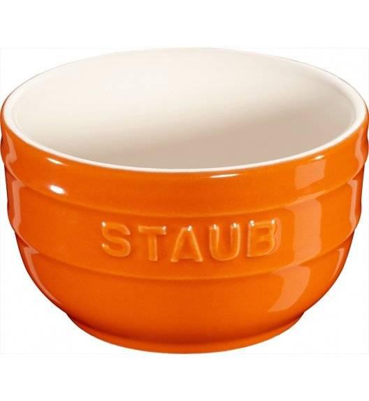 STAUB XS-MINIS Ramekin okrągły / 2 sztuki / 200 ml / pomarańczowy / ceramika