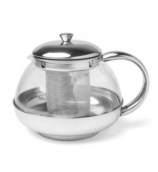 TADAR ROSA Dzbanek do herbaty / 0,6 l / szkło, stal nierdzewna