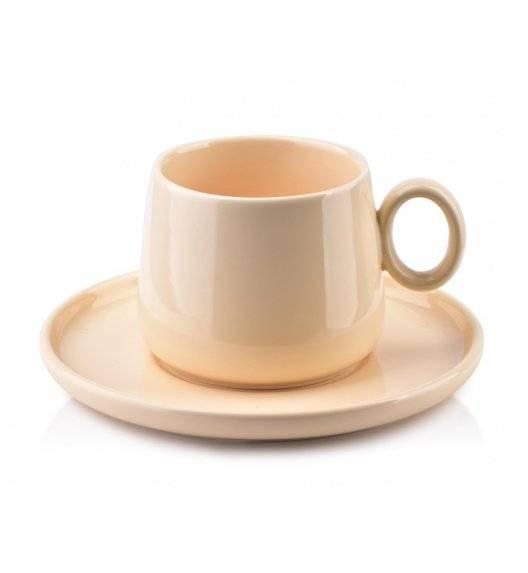 AFFEKDESIGN ALISA Filiżanka ze spodkiem / 270 ml / beżowy / porcelana