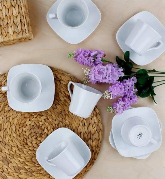 KRISTOFF TIMON Komplet filiżanek 220 ml ze spodkiem 12 el / 6 osób / porcelana
