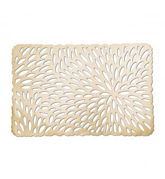 WYPRZEDAŻ! ZELLER Prostokątna podkładka PCV na stół 43,5 x 28,5 cm / złota
