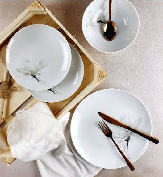 LUBIANA MAGNOLIA 6474 Serwis obiadowy 72 el / 24 osób / porcelana
