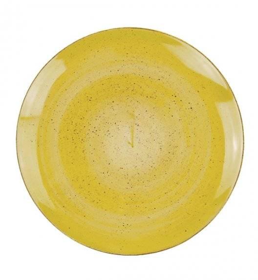 LUBIANA BOSS 6630J Talerz obiadowy 27 cm / żółty / porcelana ręcznie malowana