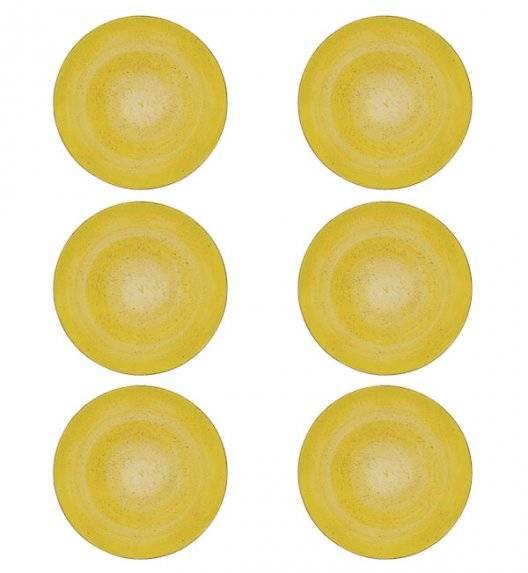 LUBIANA BOSS 6630J Talerz obiadowy 27 cm 6 os / 6 el / żółty / porcelana ręcznie malowana