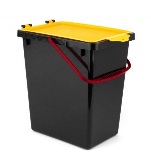 TADAR Kosz z pokrywą do segregacji odpadów / żółty / 11 L / tworzywo sztuczne