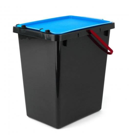 TADAR Kosz z pokrywą do segregacji odpadów / niebieski / 11 L / tworzywo sztuczne