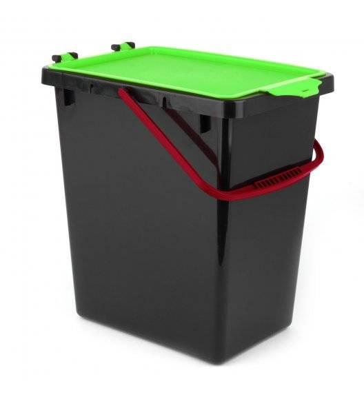 TADAR Kosz z pokrywą do segregacji odpadów / zielony / 11 L / tworzywo sztuczne