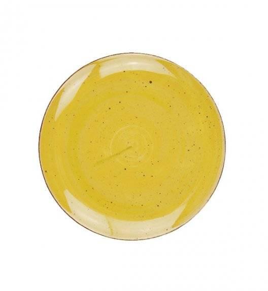LUBIANA BOSS 6630J Talerz deserowy 20,5 cm / żółty / porcelana ręcznie malowana
