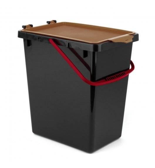 TADAR Kosz z pokrywą do segregacji odpadów / brązowy / 11 L / tworzywo sztuczne