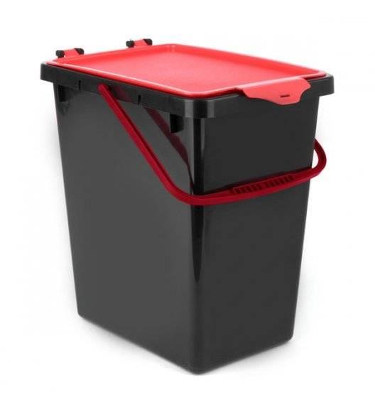 TADAR Kosz z pokrywą do segregacji odpadów / czerwony / 11 L / tworzywo sztuczne