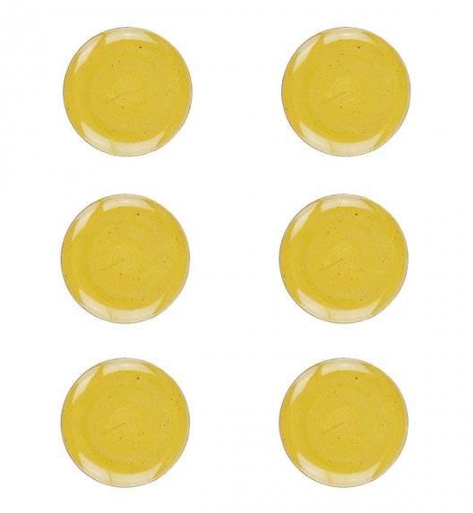 LUBIANA BOSS 6630J Komplet Talerze deserowe 20,5 cm / 6 os / 6 el / żółty / porcelana ręcznie malowana