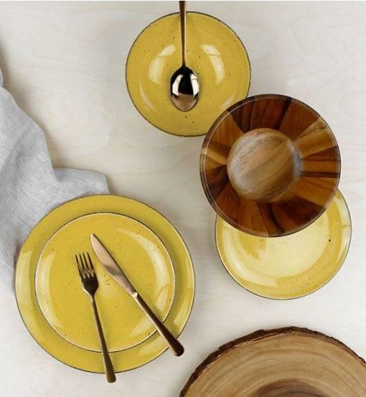 LUBIANA BOSS 6630J Serwis obiadowy 18 el / 6 osób / żółty / porcelana ręcznie malowana