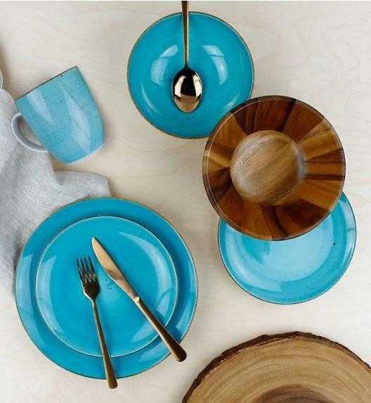 LUBIANA BOSS 6630L Serwis obiadowy 96 el / 24 osoby / morski / porcelana ręcznie malowana