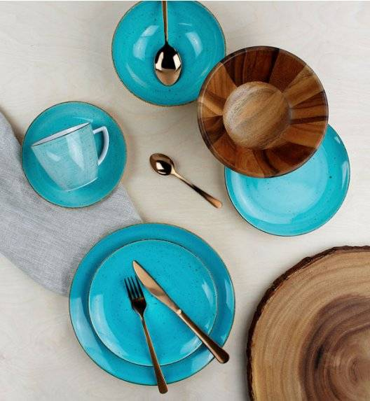 LUBIANA BOSS 6630L Serwis obiadowo - kawowy 144 el / 24 osób / morski / porcelana ręcznie malowana