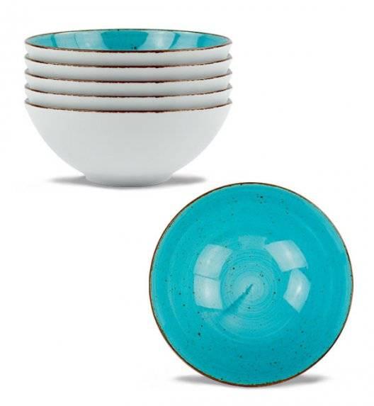 LUBIANA BOSS 6630L 6 x Salaterka 15 cm / morska / porcelana ręcznie malowana