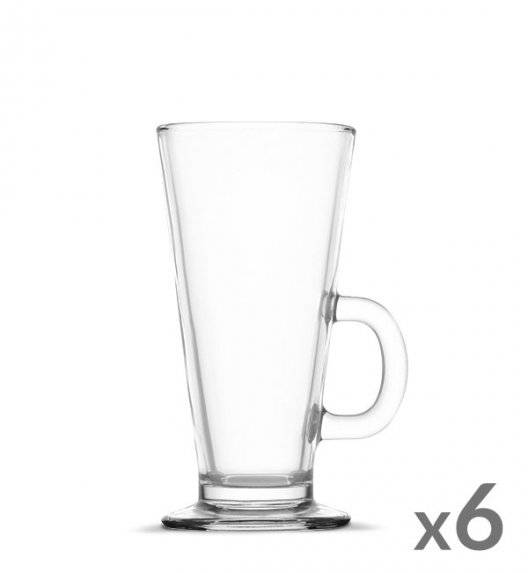 WYPRZEDAŻ! TADAR Komplet 6 szklanek Caffee Latte 270 ml