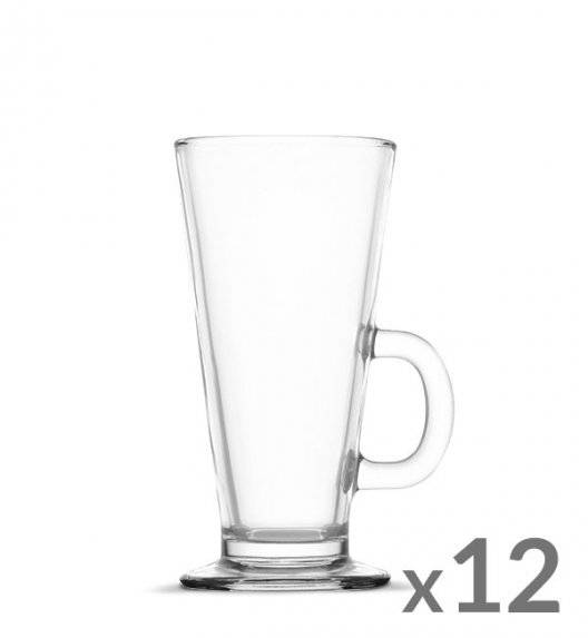 WYPRZEDAŻ! TADAR Komplet 12 szklanek Caffee Latte 270 ml